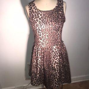 Cheetah print sleeveless dress
